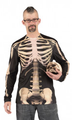T-shirt scheletro adulto Halloween