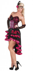 Costume da ballerina di Can can rosa per donna