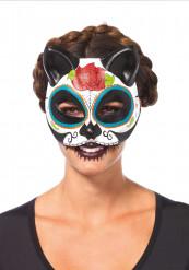 Accessorio di Halloween: maschera da gatto Dia de los muertos