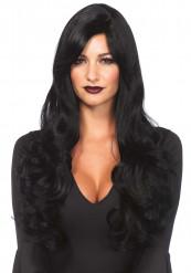 Parrucca lunga nera