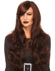 Parrucca lunga marrone