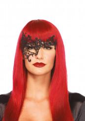 Maschera asimmetrica veneziana nera