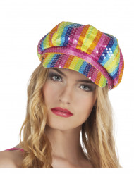 Cappello coppola multicolore adulto