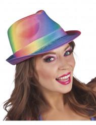 Cappello borsalino arcobaleno adulto