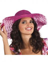 Cappello estate rosa donna