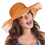 Cappello estate arancione donna