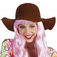Cappello  floscio  marrone donna