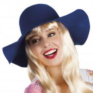 """Cappello """"floscio"""" blu donna"""