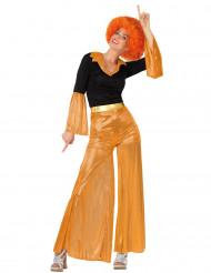 Costume disco arancione donna