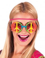 Occhiali Hippie arcobaleno adulto