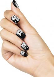 Finte unghie adesive ragno donna Halloween