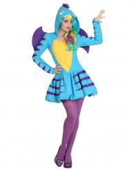 Costume drago azzurro donna