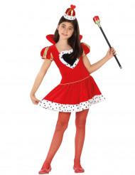 Costume regina di cuore peluche bambina