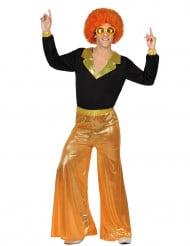 Costume disco olografico arancione uomo