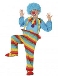 Costume da clown arcobaleno per bambino