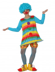 Costume da clown arcobaleno per bambina