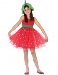 Costume fragola in tulle bambina