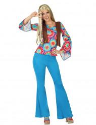 Costume hippie azzurro donna