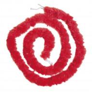 Ghirlanda marabù rosso 180 cm