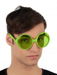 Occhiali hippie verdi