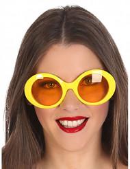 Occhiali hippie gialli