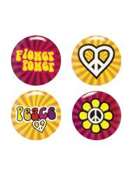 4 Spille Hippie Flower Power