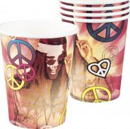 Confezione 6 bicchieri hippy flower power