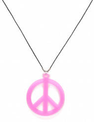 Collana hippie rosa adulto