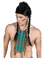 Collana indiana blu lunga adulto