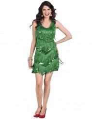 Costume charleston Anni '20 verde donna