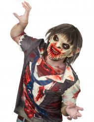 Maschera da zombie insanguinato in lattice adulto Halloween