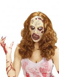 Parrucca e maschera zombie adulto Halloween