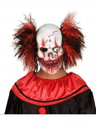 Maschera adulto in lattice da clown sanguinante per Halloween