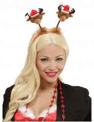 Cerchietto renne Natale
