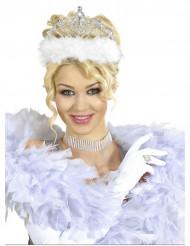 Corona da principessa con pelliccia bainca