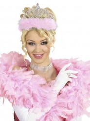 Corona da principessa con pelliccia rosa