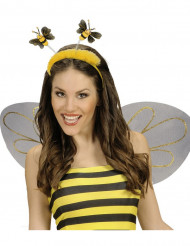 Cerchietto ape con pelliccia adulto