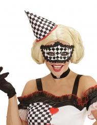 Maschera Pierrot a scacchi adulto