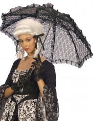 Ombrello nero in pizzo 83 cm