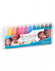 Scatola di 12 matite trucco multicolore Grim
