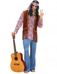 Costume hippy uomo con motivi psichedelici