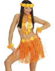 Kit Hawaiana arancione e giallo donna