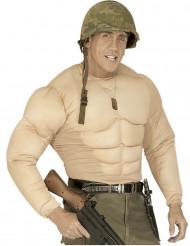 Finto torso muscoloso adulto