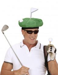 Berretto giocatore di golf verde adulto