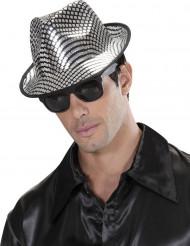 Cappello borsalino argentato