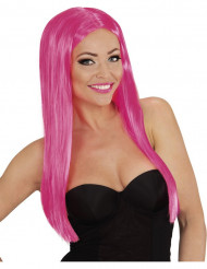 Parrucca lunga glamour rosa donna