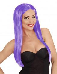 Parrucca capelli lunghi di colore viola da donna