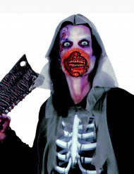 Bocca da zombie insanguinata
