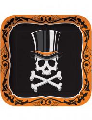8 piatti Mr. scheletro Halloween