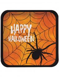 8 piatti quadrati Happy Halloween